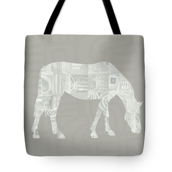 White Horse 2- Art By Linda Woods Tote Bag
