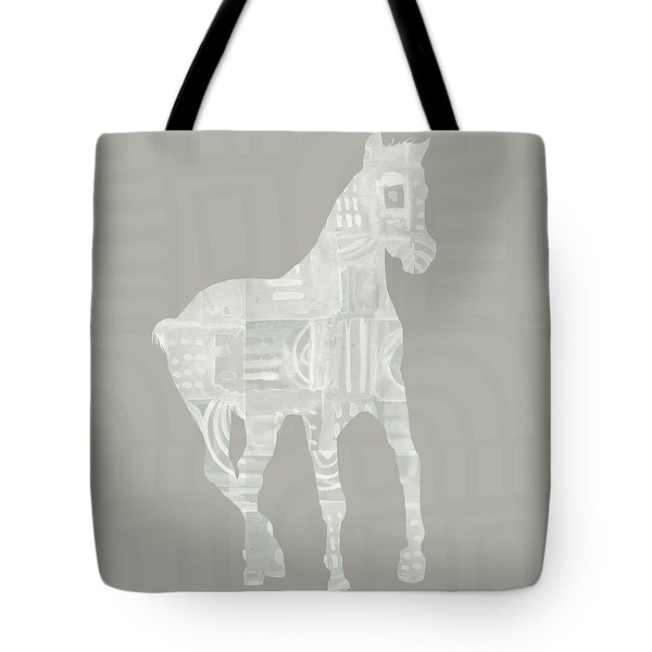 White Horse 3- Art By Linda Woods Tote Bag