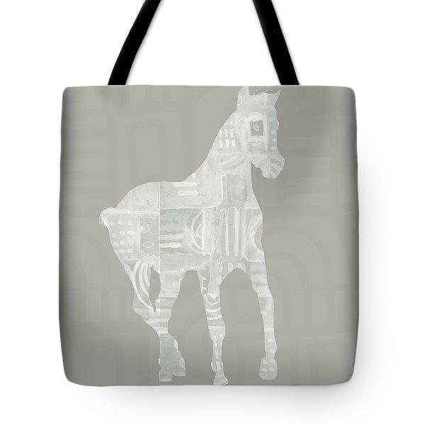 White Horse 3- Art By Linda Woods Tote Bag