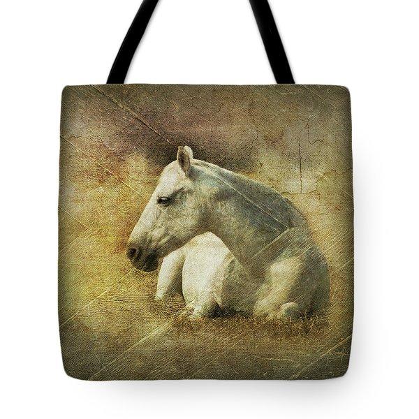 White Horse Art Tote Bag