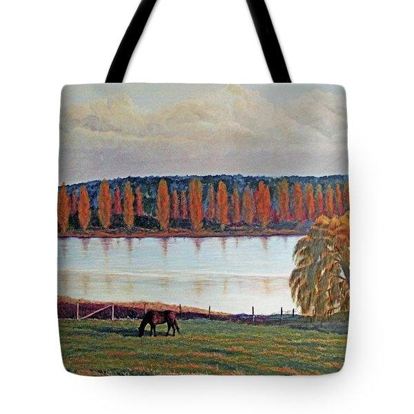 White Horse Black Horse Tote Bag