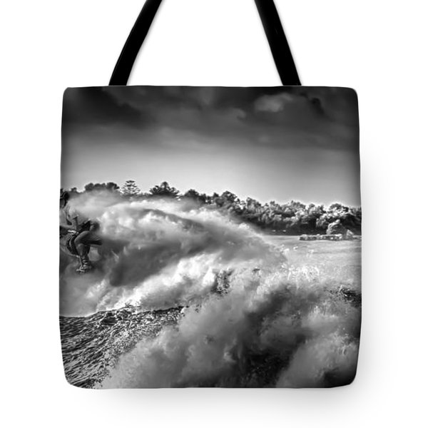 White Horses Tote Bag