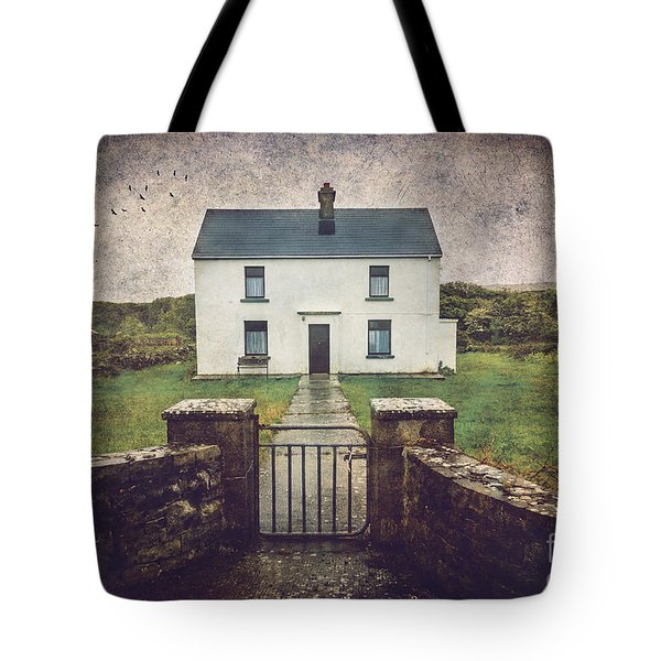 White House Of Aran Island I Tote Bag by Craig J Satterlee