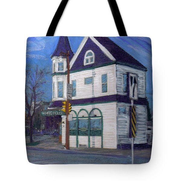 White House Tavern Tote Bag by Anita Burgermeister