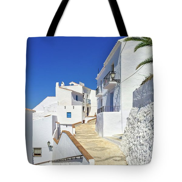 White Houses And Blue Sky Of Andalusia Tote Bag