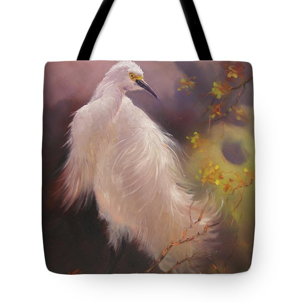 White Hunter Tote Bag