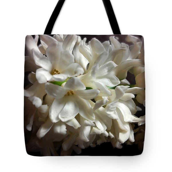 White Hyacinth Tote Bag by Jasna Dragun