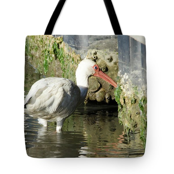 Tote Bag featuring the photograph White Ibis Headed Home by George Randy Bass