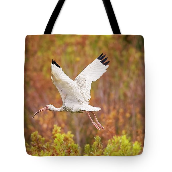 White Ibis In Hilton Head Island Tote Bag