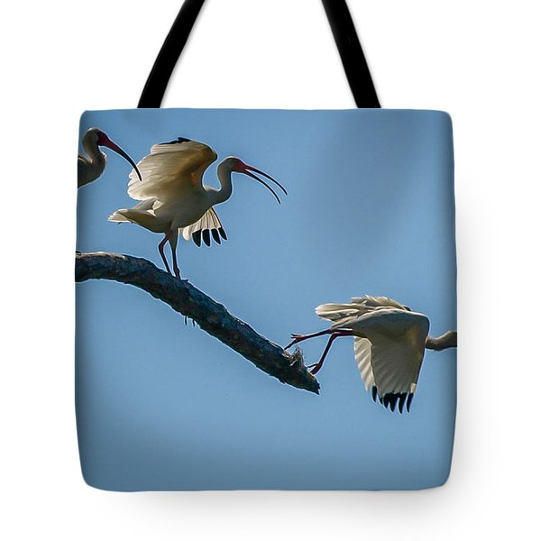 White Ibis Takeoff Tote Bag