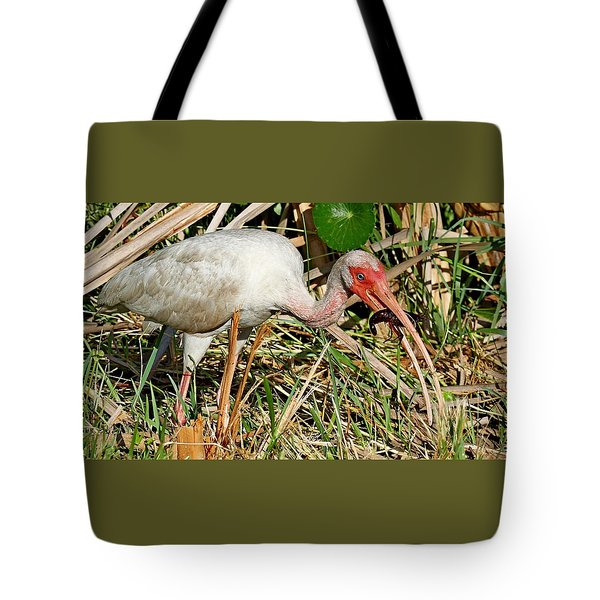 White Ibis With Crayfish Tote Bag