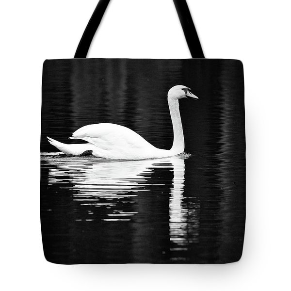 White In Black  Tote Bag by Teemu Tretjakov