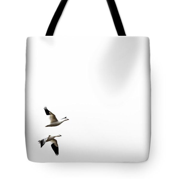 White In Flight Tote Bag