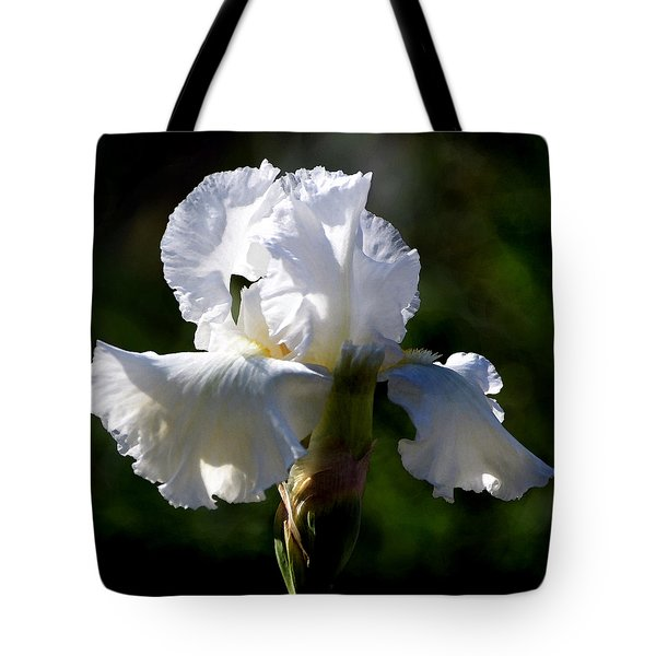 White Iris Tote Bag