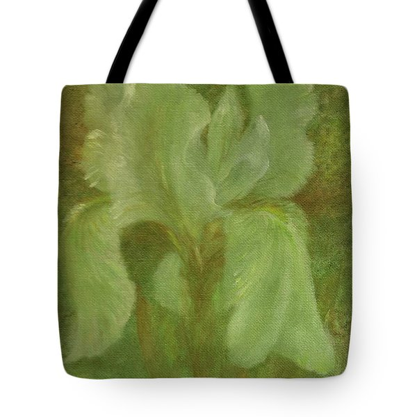 White Iris Painterly Texture Tote Bag