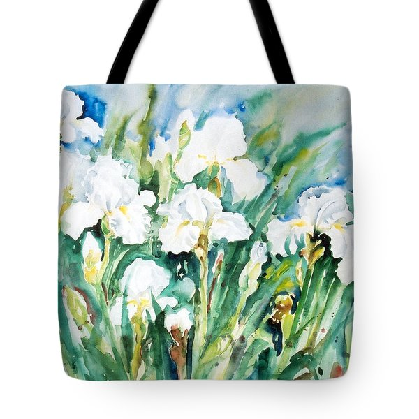 White Irises Tote Bag