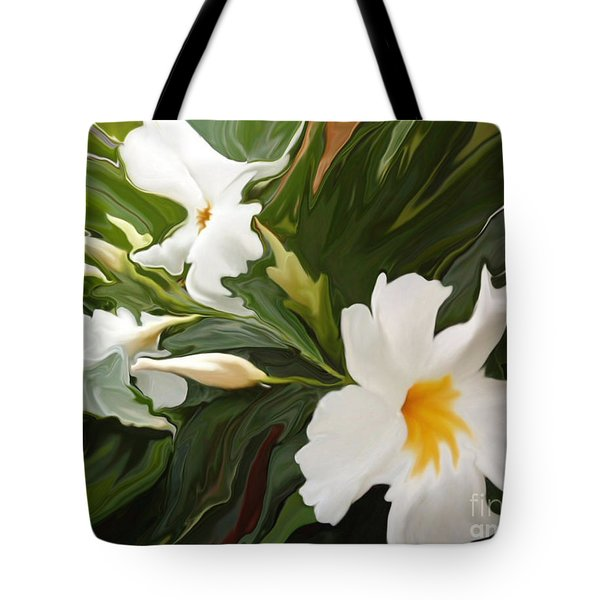 White Jasmine Tote Bag by Corey Ford