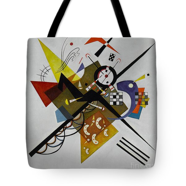 White Tote Bag by Kandinsky