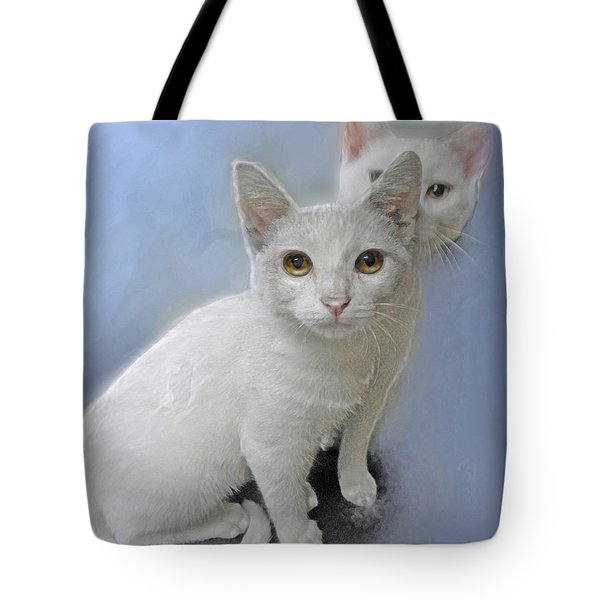 White Kittens Tote Bag by Jane Schnetlage