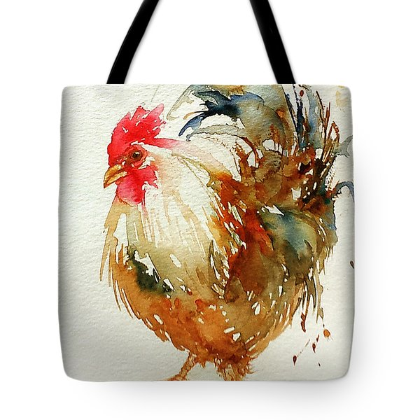 White Knight Rooster Tote Bag