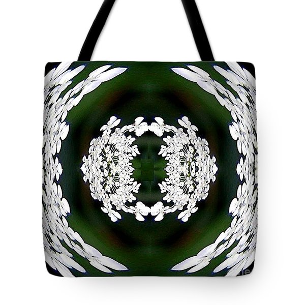 Tote Bag featuring the digital art White Lace by Charles Robinson