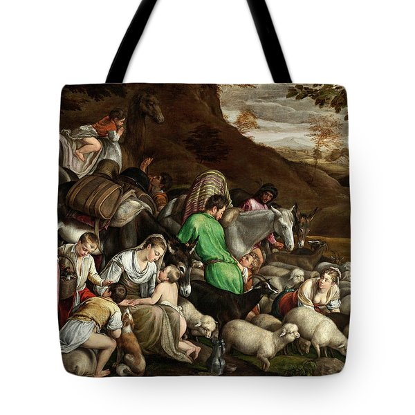 Tote Bag featuring the photograph White Lambs by Munir Alawi