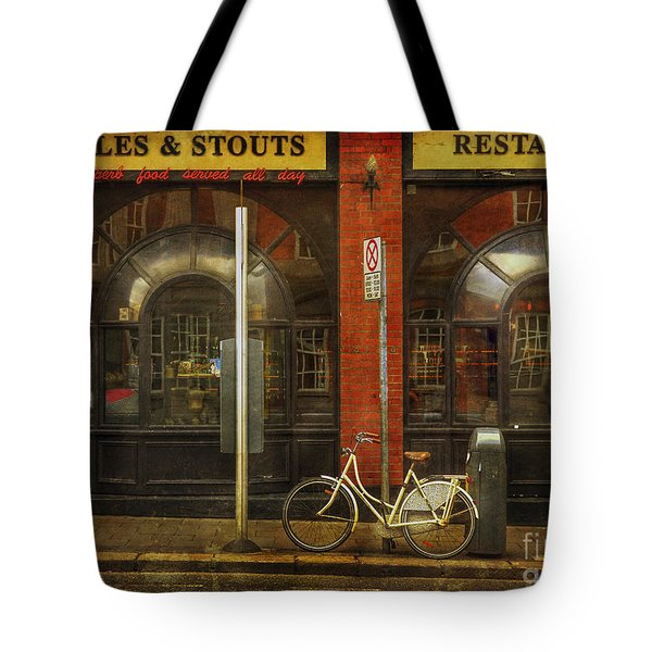 White Leopard Bicycle  Tote Bag