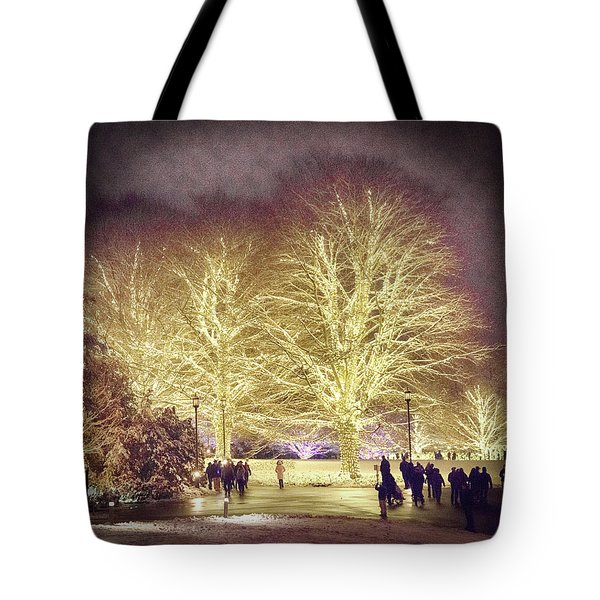 White Light Christmas Tote Bag by Phil Abrams