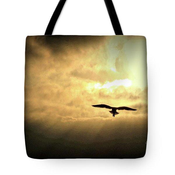 White Light Sunrise Tote Bag