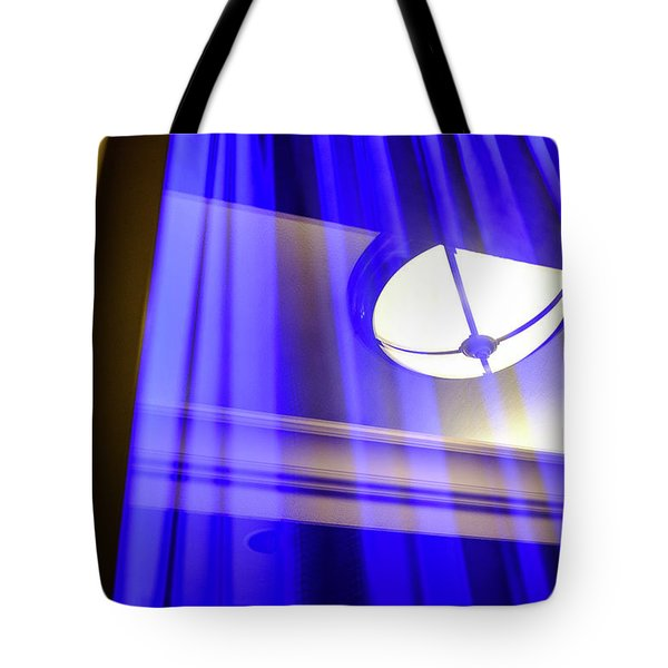White Light With Blue And Yellow In Winter Park Florida Tote Bag