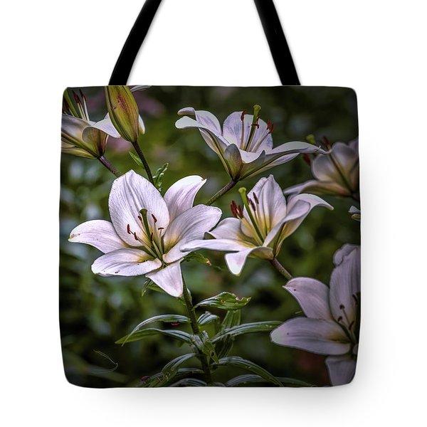White Lilies #g5 Tote Bag