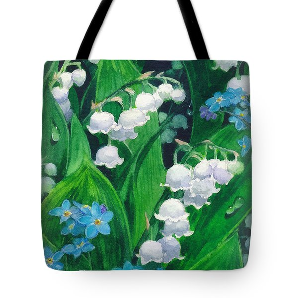 White Lilies Of The Valley Tote Bag