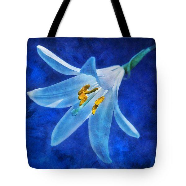 Tote Bag featuring the digital art White Lilly by Ian Mitchell
