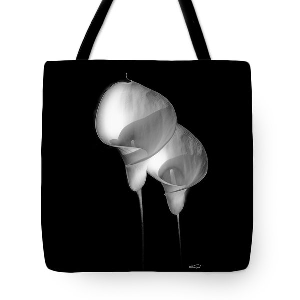 White Lily Couple Tote Bag