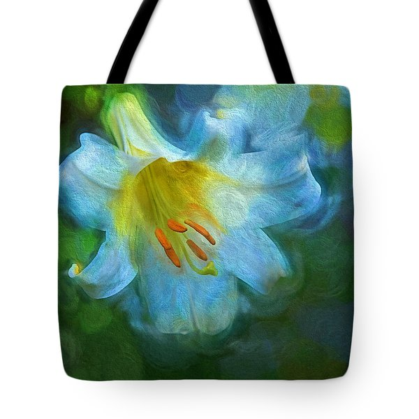 White Lily Obscure Tote Bag