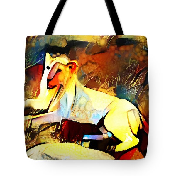 Tote Bag featuring the photograph White Lioness by Pennie  McCracken