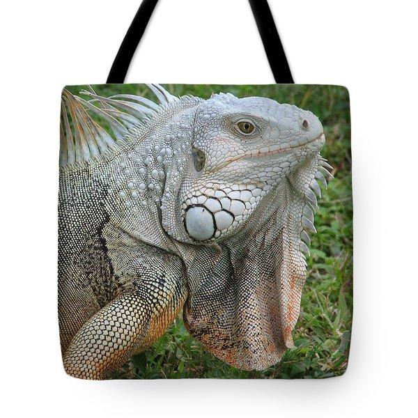 White Lizard Tote Bag