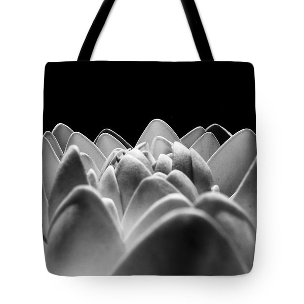 White Lotus In Night Tote Bag