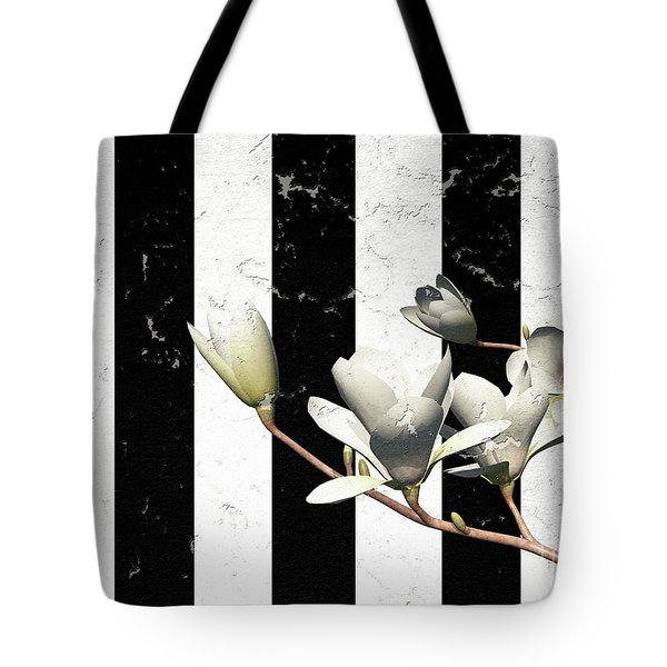 White Magnolia ..digital Tote Bag