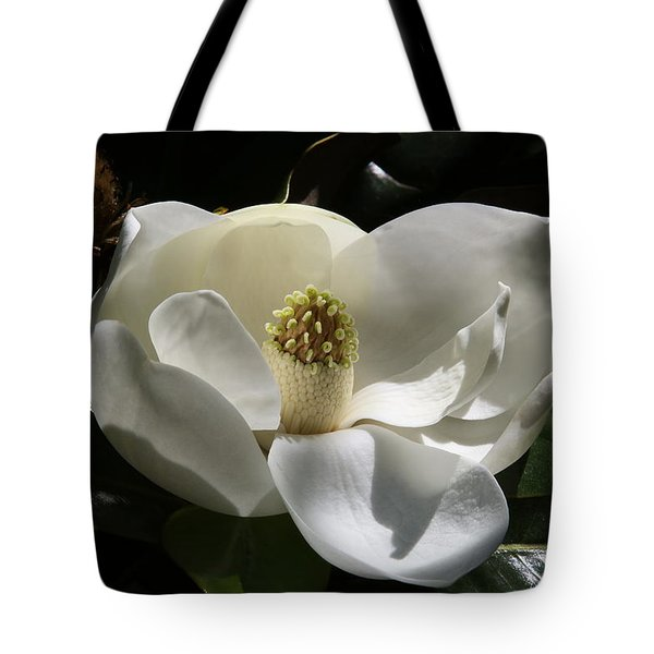 White Magnolia Flower Tote Bag