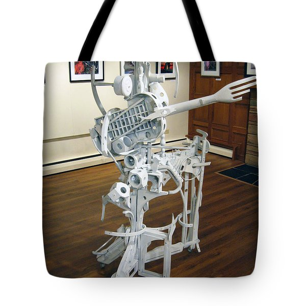 White Man Tote Bag