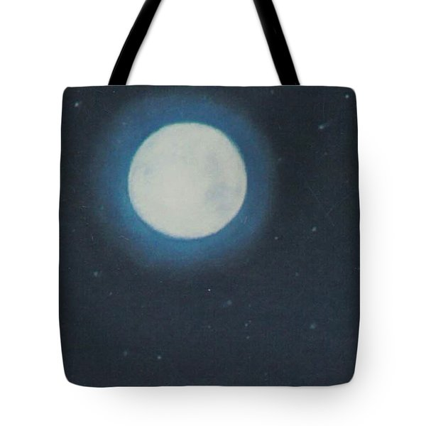 White Moon At Night Tote Bag
