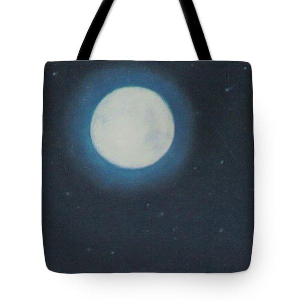 White Moon At Night Tote Bag