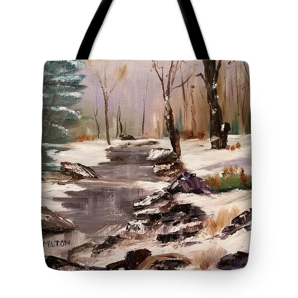White Mountains Creek Tote Bag