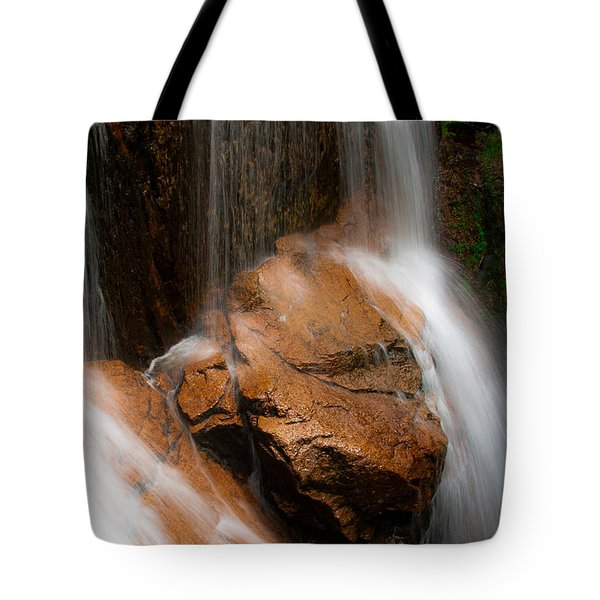 Tote Bag featuring the photograph White Mountains Waterfall by Jason Moynihan