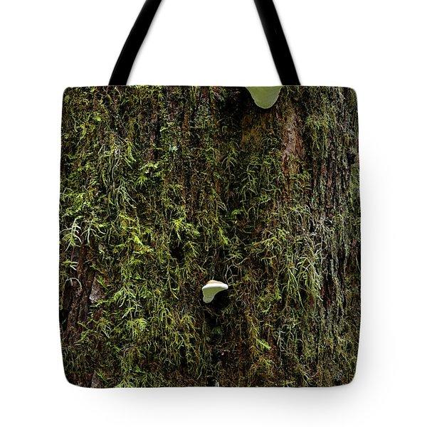 White Mushrooms - Quinault Temperate Rain Forest - Olympic Peninsula Wa Tote Bag