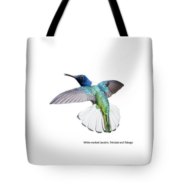 Tote Bag featuring the photograph White Necked Jacobin Trinidad by Rachel Lee Young