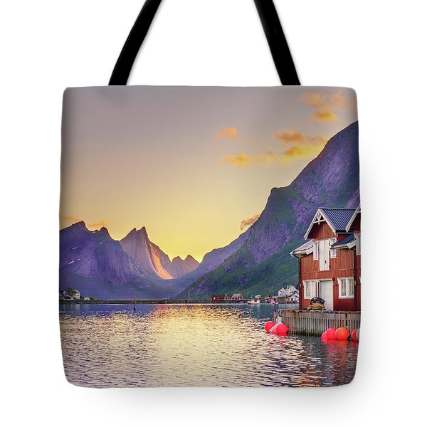 White Night In Reine Tote Bag
