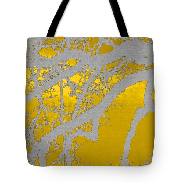 White Oak -yellow Orange Tote Bag by Tom Janca