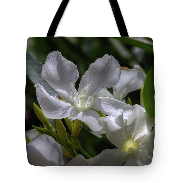 White Oleander Tote Bag by Richard Stephen